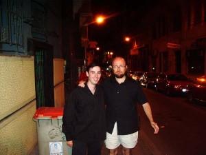 Jorge Gayoso, junto a Santiago Segura