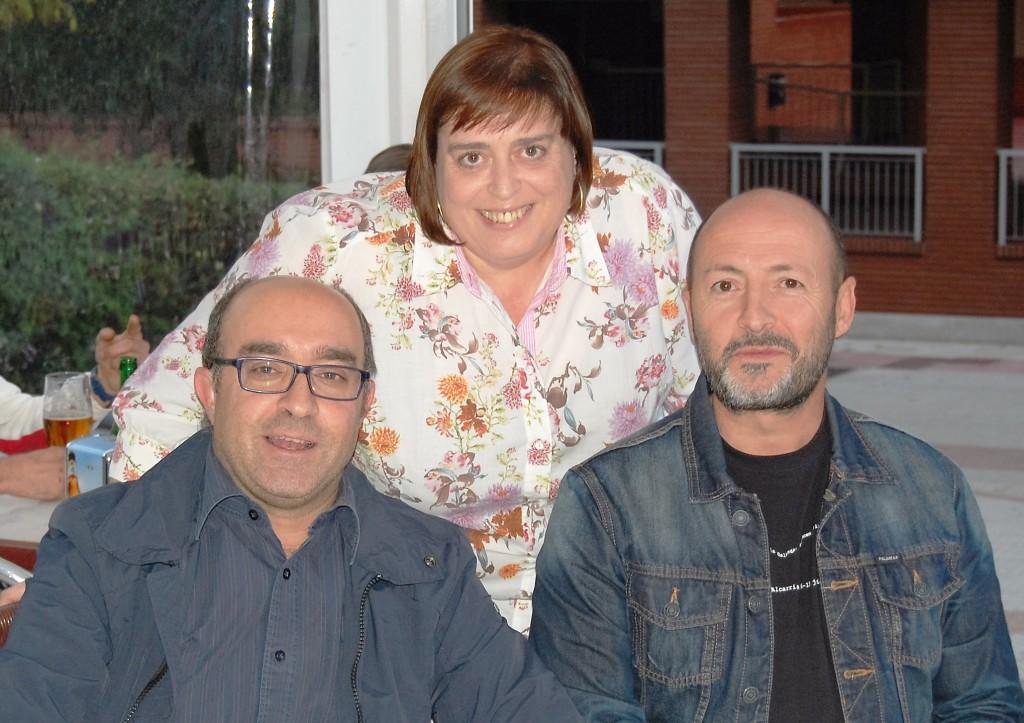 Álvaro Nuño, Nuria Fernández y Juan Solo