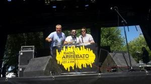 Dj Panalero, Pdtk y Mr. Roses en el escenario del Gigante