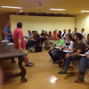 Reunión de programación del jueves 18 en el Brianda de Mendoza (Foto: ANP)
