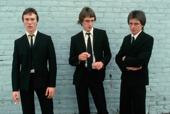 October 1977 --- Members of the rock group The Jam, Rick Buckler, Bruce Foxton, and Paul Weller. --- Image by © Neal Preston/Corbis